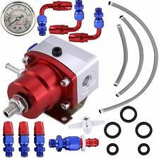 Universal Adjustable Fuel Pressure Regulator Kit AN6 Fitting 160PSI Oil Gauge