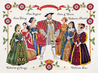 DMC Cross Stitch Kit - Henry VIII & Six Wives K3403 Free UK Postage and Packing