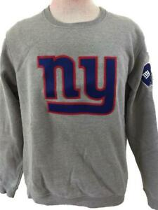 NY Giants sweatshirt size L large gray NFL proline embroidered logos helmet