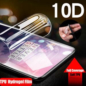 10D TPU Hydrogel Soft Full Coverage Clear Gel Film Screen Protector For Phone
