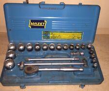"""Hazet 907 Z 24 tlg. 1/2"""" Ratschen -Steckschlüsselsatz Oldtimer Werkstatt Vintage"""