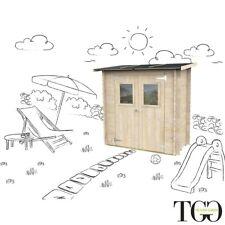Casetta in legno Addossato Jack deposito per sdraie e giochi da giardino con por