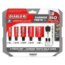 FREUD Diablo DHS09SGPCT 9pc Carbide Tipped General Purpose Hole Saw Set New