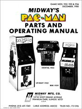 Pac-Man Arcade Operations/Service/Repair Manual/Coin Video Machine Pacman     Wa