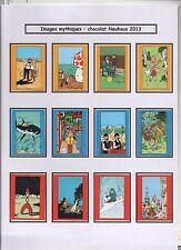 Tintin. 3 séries d'emballage Chocolat Neuhaus. Tintin Images mythiques. 2013