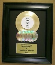Personalized Gold 45 Record Album Award to Custom w/CD's Display RIAA Style Disc