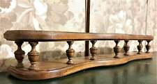 Victorian curved wall spindle shelf Antique french walnut architectural salvage