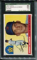 1955 Topps Baseball #124 Harmon Killebrew Rookie Card Graded SGC NR MINT+ 86 7.5
