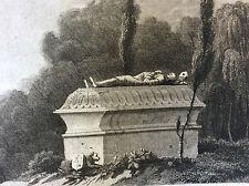 Mausolée de Montluc Lot gravure sur acier milieu XIXe France