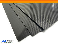 Carbon Platte 1,5mm / CFK Kohlefaser / KÖPER Hochglanz / Größe wählbar