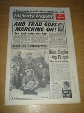 MELODY MAKER 1961 AUGUST 19 VIC DAMONE CONFEDERATES HELEN SHAPIRO GENE VINCENT +