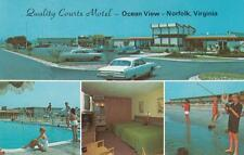 Vintage POSTCARD c1971 Quality Courts Motel NORFOLK, VA 19277