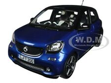 2015 SMART FOR FOUR BLACK/BLUE 1/18 DIECAST MODEL CAR BY NOREV 183435
