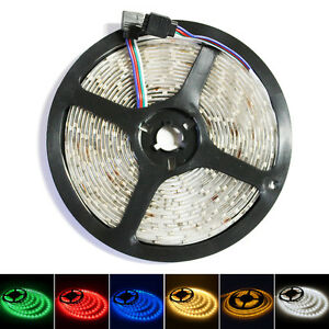 16FT/5M 300 LED Strip Light 3528 SMD RGB Ribbon Tape Roll Waterproof IP65 Lamp