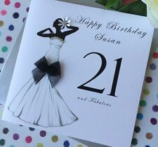 Handmade Personalised Birthday Card 16th 21st 30th 40th 50th 60th 70th 80th