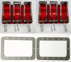 Tail Light Lamp Bezels Lenses Gaskets Kit For 1968 Ford Mustang - Scott Drake