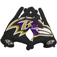 🔥 New Nike Baltimore Ravens Sphere Fan Football Gloves LARGE Men's NFL Black #i