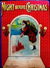 NIGHT BEFORE CHRISTMAS ~ Antique Original Victorian Children's Story Book