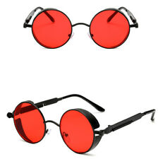 Unisex Vintage Polarized Steampunk Sunglasses Round Mirrored Retro Sunglasses