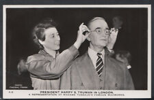 London Postcard - Madame Tussaud's Waxworks - President Harry Truman  RT2436