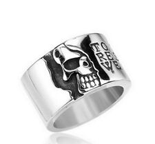 """Skull ring """"To the living respect but to we owe only"""""""