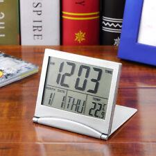 Home Digital LCD Screen Travel Alarm Clocks Thermometer Timer Calendar clock UK