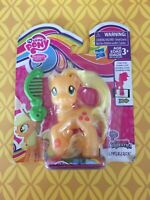 "MLP My Little Pony FIM 3"" Brushable Pearlized Applejack NIP Explore Equestria"