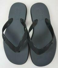 Salvatore Ferragamo Men's Black Flip Flops Gym Sandals Size 6 M