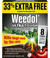 Weedol Ultra Tough Weedkiller Liquid Concentrate 8 Tubes Weed Killer