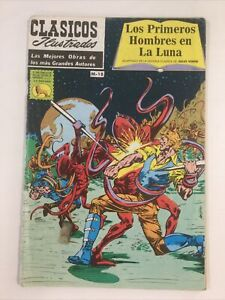 1984 SPANISH COMICS CLASICOS ILUSTRADOS M18 HOMBRES EN LUNA LA PRENSA MEXICO