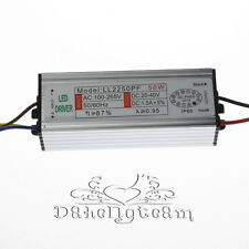 50W DC25-36V Waterproof IP67 AC0.8A Led Driver Constant Current LED Power Supply
