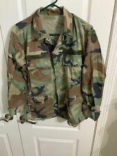 USGI US MILITARY WOODLAND BDU TOP COAT JACKET WARM WEATHER USAF SMALL / SHORT