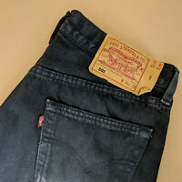 Vintage Levi 501 Jeans Black Straight Made In USA Unisex (PatchW34L32) W 32 L 32