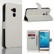 1x Litchi Leather wallet Flip stand pouch Cover For Huawei Honor 7 LITE White NB
