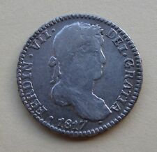 1817 Bolivia 1 Real Silver Coin 1R Potosi Ferdinand VII Spanish Colonial KM#87