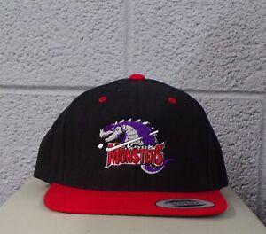 AHL Hockey Lowell Lock Monsters Embroidered Flat Bill Snapback Ball Cap Hat  New