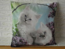 Kissenhülle Kissenbezug Dekokissen Fotodruck 2 Katzen im Fliederbaum  40x40 cm