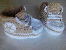 patucos bebe crochet recien nacido 100% fibra algodon 8,5 cm de suela