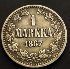More details for 1 markka 1867s from finland km# 31