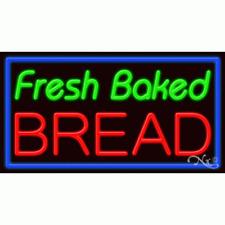 "New ""Fresh Baked Bread"" 37x20x3 Border Real Neon Sign w/Custom Options 11707"