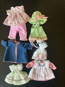 """5- Helen Kish Outfits 7.5"""" Doll- Bag of Shoes Too!!!"""