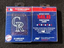 Pro Specialties Group MLB Colorado Rockies CR Logo Playing Cards Licensed Sealed
