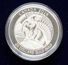 """CANADA 20 Dollar 2014 """"The Wolverine"""" Silber polierte Platte"""