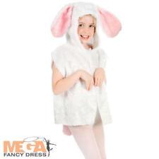 White Rabbit Tabrd Kids Fancy Dress Easter Bunny Animal Boys Girls Costume 3-8