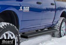 "6"" Black iBoard Running Boards Fit 09-17 Dodge Ram 1500/2500/3500 Crew Cab"