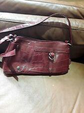 Ladies Mexx Casual Burgundy Mock Croc Small Handbag
