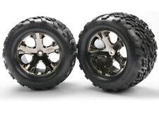 Traxxas 3668a trasero All-Star BK cromo ruedas con / Talon Neumáticos Stampede
