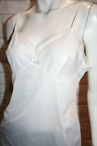 VINTAGE Original 1980's White Nylon Sleeveless Slip Dress #VIN78