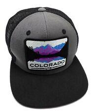 COLORADO LIMITED gray / black adjustable cap / hat - wide brim