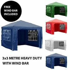 More details for gazebo marquee party tent with sides waterproof garden patio outdoor canopy 3x3m
